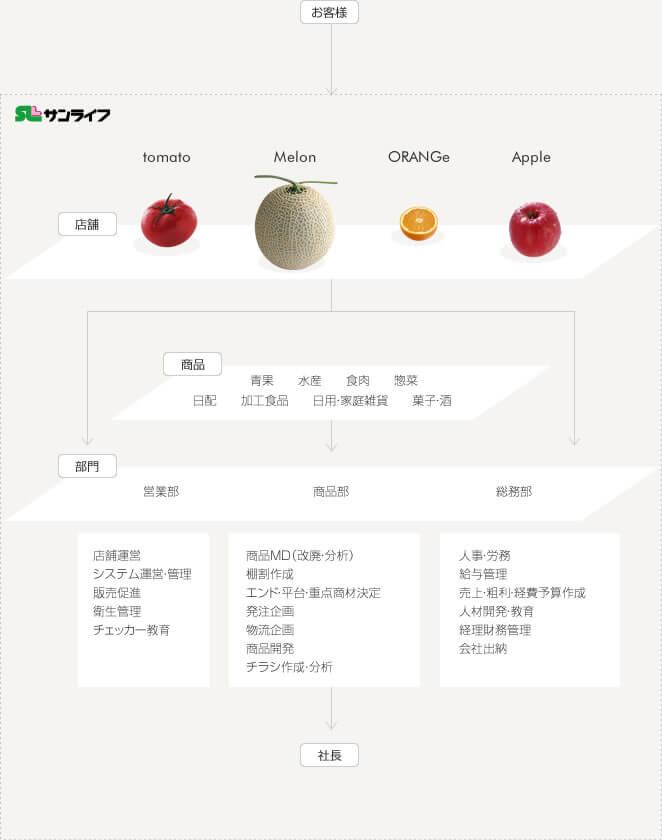 サンライフ組織図